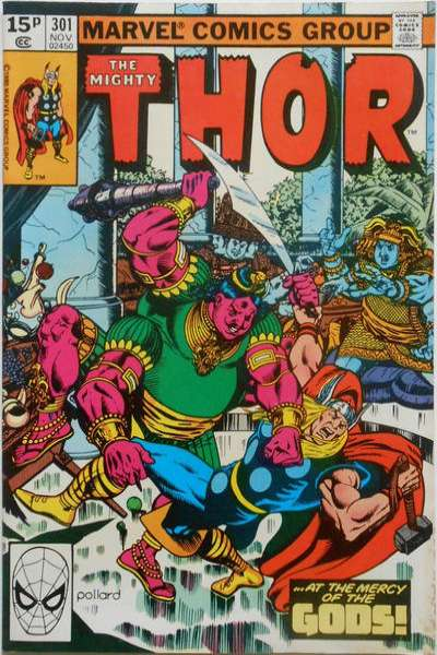 Thor #301 comic books - cover scans photos Thor #301 comic books - covers, picture gallery
