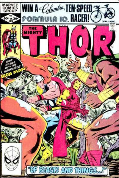 Thor #316 comic books - cover scans photos Thor #316 comic books - covers, picture gallery