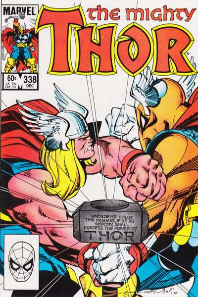 Thor #338 comic books - cover scans photos Thor #338 comic books - covers, picture gallery