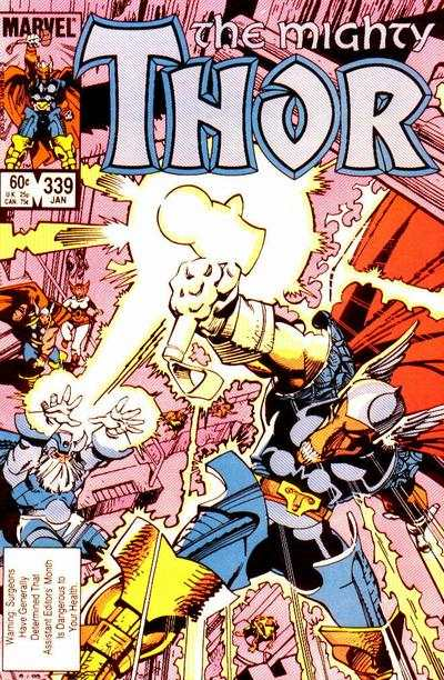 Thor #339 comic books - cover scans photos Thor #339 comic books - covers, picture gallery