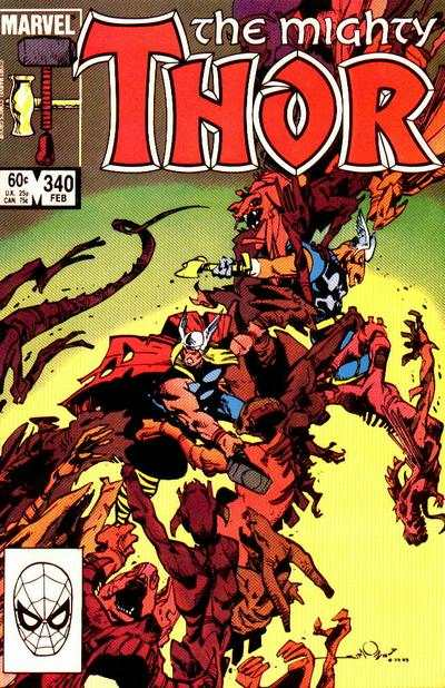 Thor #340 comic books - cover scans photos Thor #340 comic books - covers, picture gallery