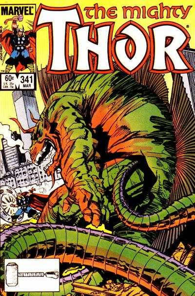 Thor #341 comic books - cover scans photos Thor #341 comic books - covers, picture gallery