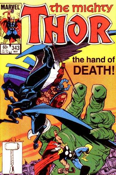 Thor #343 comic books - cover scans photos Thor #343 comic books - covers, picture gallery