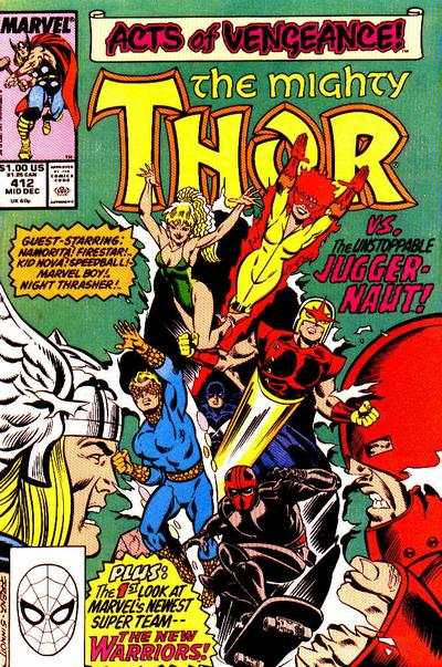 Thor #412 comic books - cover scans photos Thor #412 comic books - covers, picture gallery