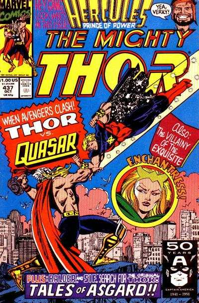 Thor #437 comic books - cover scans photos Thor #437 comic books - covers, picture gallery