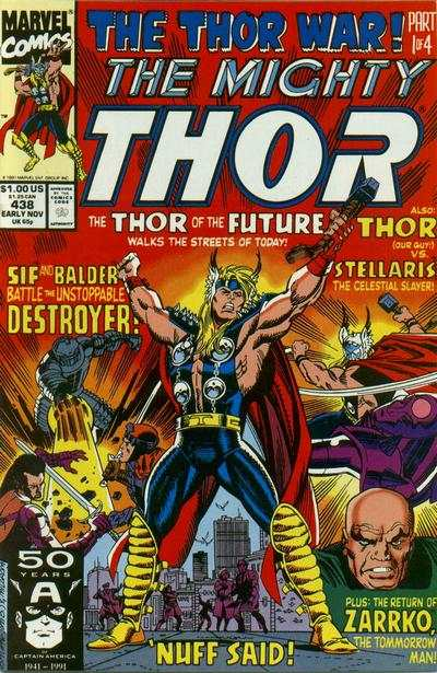Thor #438 comic books - cover scans photos Thor #438 comic books - covers, picture gallery