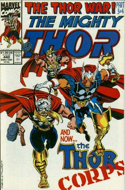 Thor #440 comic books - cover scans photos Thor #440 comic books - covers, picture gallery