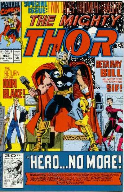 Thor #442 comic books - cover scans photos Thor #442 comic books - covers, picture gallery