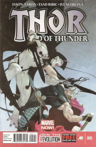 Thor: God of Thunder #5 comic books - cover scans photos Thor: God of Thunder #5 comic books - covers, picture gallery