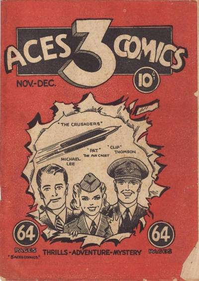 Three Aces Comic Books. Three Aces Comics.