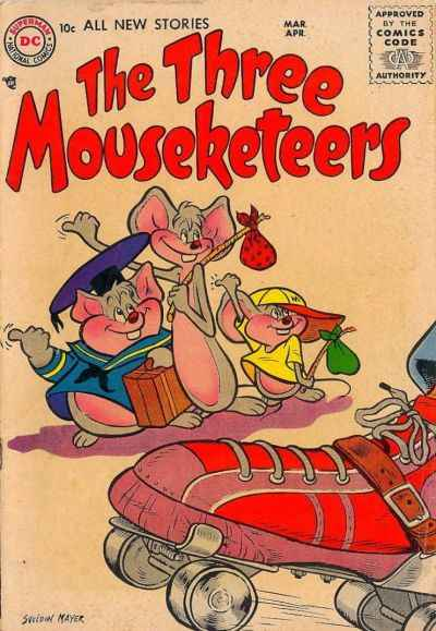 Three Mouseketeers comic books