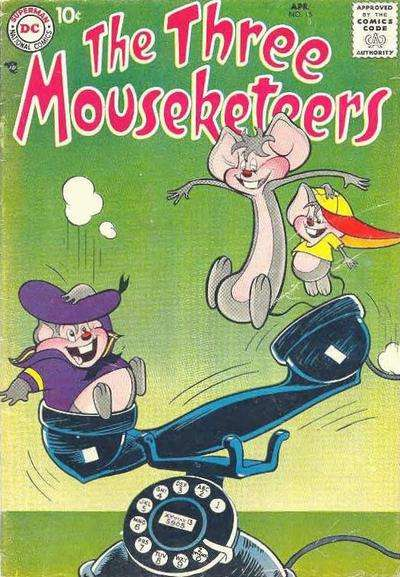 Three Mouseketeers #15 comic books - cover scans photos Three Mouseketeers #15 comic books - covers, picture gallery