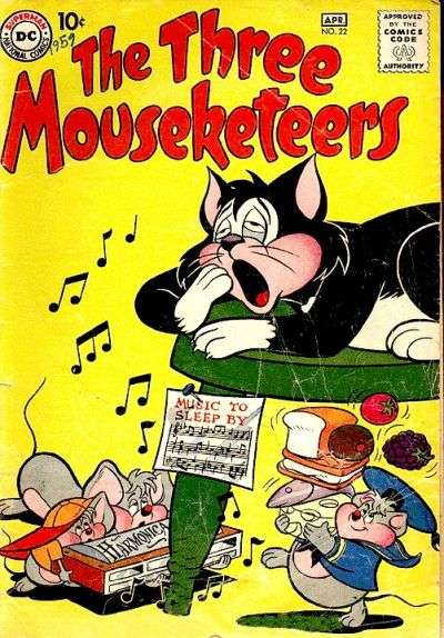 Three Mouseketeers #22 comic books - cover scans photos Three Mouseketeers #22 comic books - covers, picture gallery