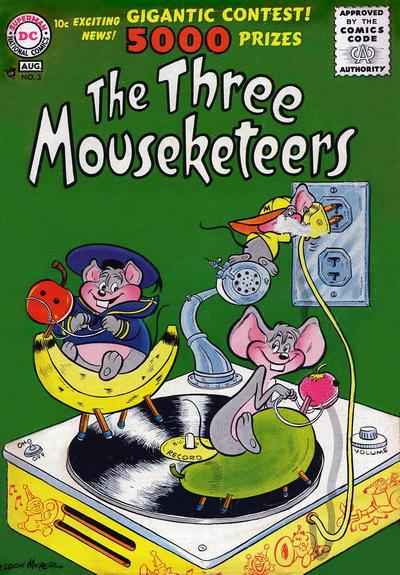 Three Mouseketeers #3 comic books for sale