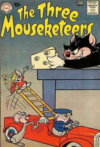 Three Mouseketeers #25 comic books - cover scans photos Three Mouseketeers #25 comic books - covers, picture gallery