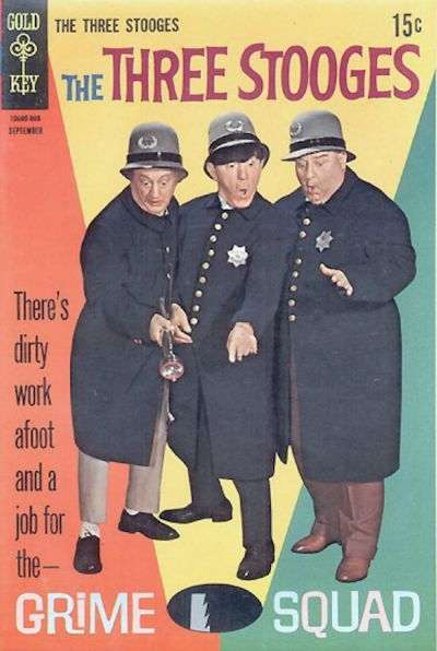 Three Stooges #40 comic books - cover scans photos Three Stooges #40 comic books - covers, picture gallery