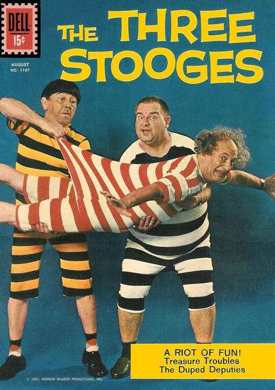 Three Stooges #5 Comic Books - Covers, Scans, Photos  in Three Stooges Comic Books - Covers, Scans, Gallery