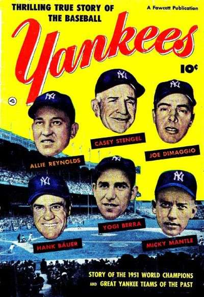 Thrilling True Story of the Baseball Yankees #1 comic books - cover scans photos Thrilling True Story of the Baseball Yankees #1 comic books - covers, picture gallery