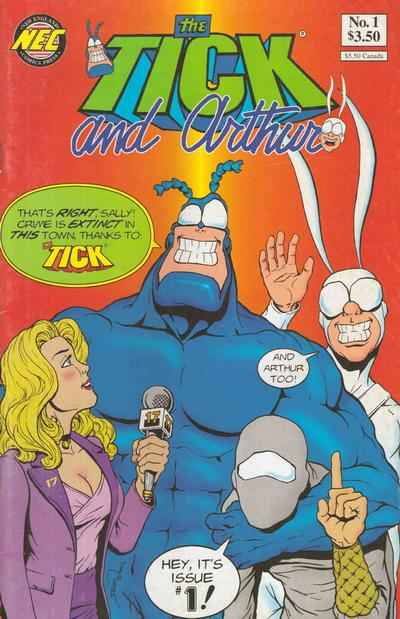 Tick and Arthur comic books