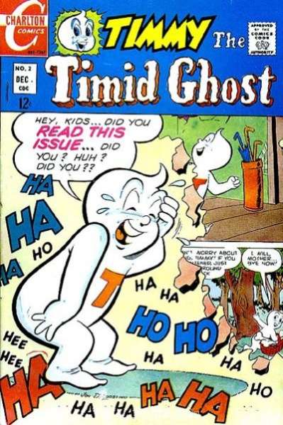 Timmy the Timid Ghost #2 Comic Books - Covers, Scans, Photos  in Timmy the Timid Ghost Comic Books - Covers, Scans, Gallery