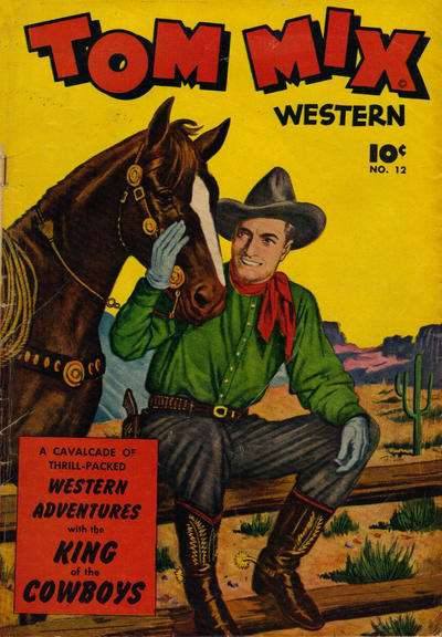 Tom Mix Western #12 comic books - cover scans photos Tom Mix Western #12 comic books - covers, picture gallery