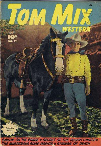 Tom Mix Western #19 comic books - cover scans photos Tom Mix Western #19 comic books - covers, picture gallery