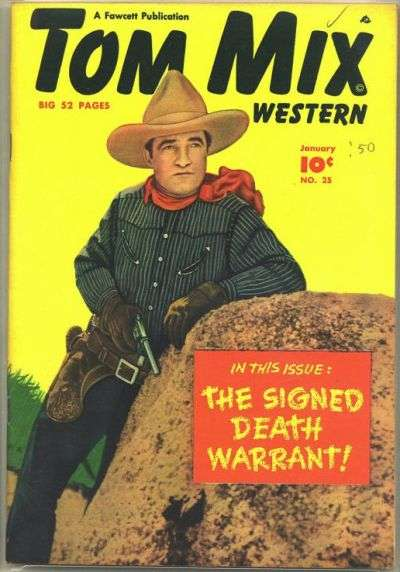 Tom Mix Western #25 comic books - cover scans photos Tom Mix Western #25 comic books - covers, picture gallery