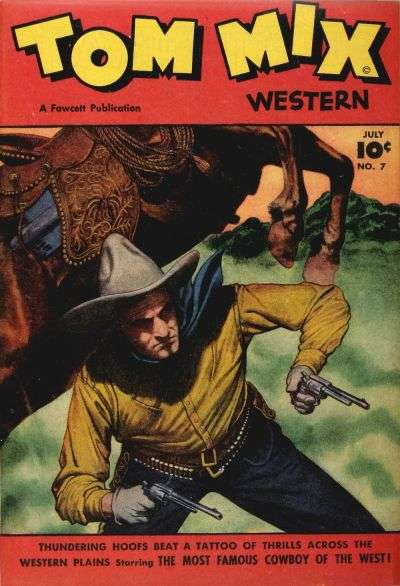 Tom Mix Western #7 comic books - cover scans photos Tom Mix Western #7 comic books - covers, picture gallery
