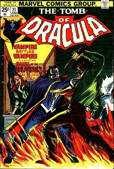 Tomb of Dracula #21 comic books - cover scans photos Tomb of Dracula #21 comic books - covers, picture gallery