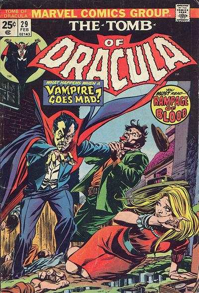 Tomb of Dracula #29 comic books - cover scans photos Tomb of Dracula #29 comic books - covers, picture gallery