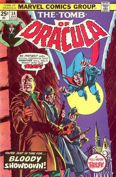 Tomb of Dracula #34 comic books - cover scans photos Tomb of Dracula #34 comic books - covers, picture gallery