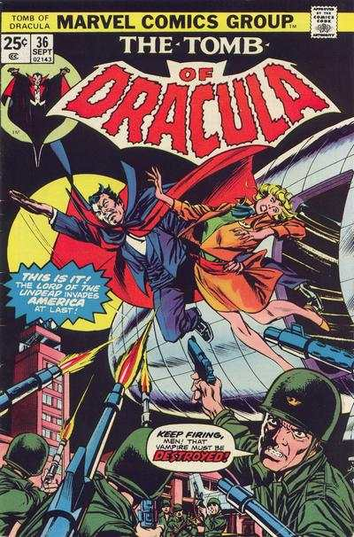 Tomb of Dracula #36 comic books - cover scans photos Tomb of Dracula #36 comic books - covers, picture gallery