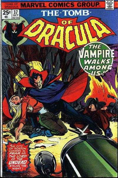 Tomb of Dracula #37 comic books - cover scans photos Tomb of Dracula #37 comic books - covers, picture gallery