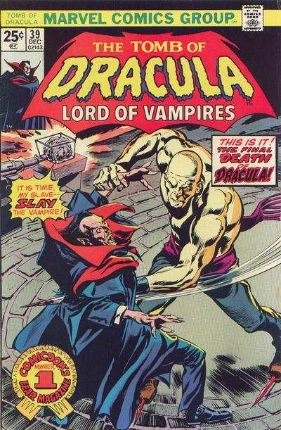 Tomb of Dracula #39 comic books - cover scans photos Tomb of Dracula #39 comic books - covers, picture gallery