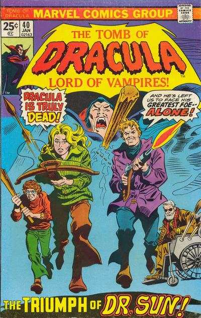 Tomb of Dracula #40 comic books for sale