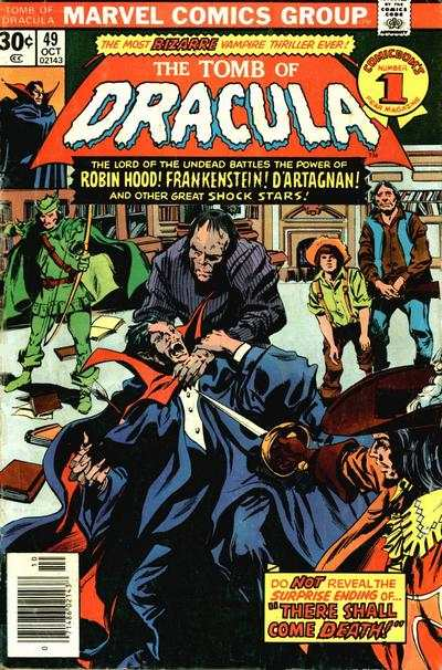 Tomb of Dracula #49 comic books - cover scans photos Tomb of Dracula #49 comic books - covers, picture gallery