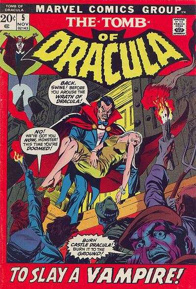 Tomb of Dracula #5 comic books - cover scans photos Tomb of Dracula #5 comic books - covers, picture gallery