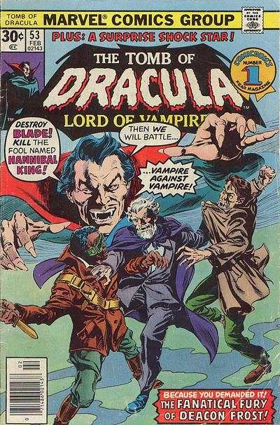Tomb of Dracula #53 comic books - cover scans photos Tomb of Dracula #53 comic books - covers, picture gallery
