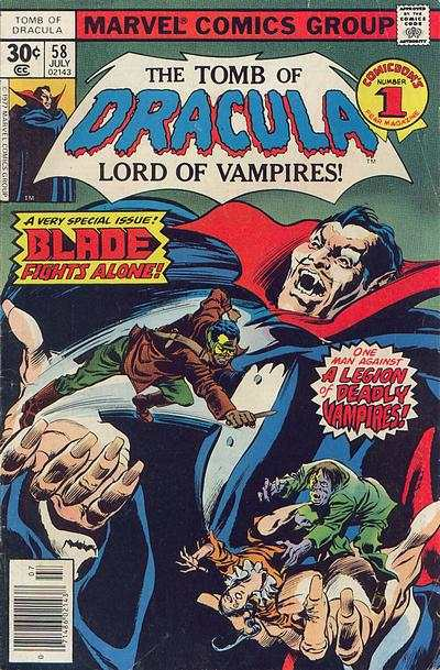 Tomb of Dracula #58 comic books - cover scans photos Tomb of Dracula #58 comic books - covers, picture gallery