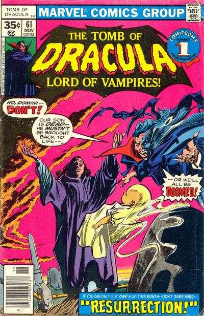 Tomb of Dracula #61 comic books - cover scans photos Tomb of Dracula #61 comic books - covers, picture gallery