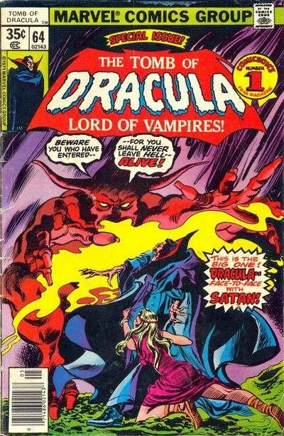 Tomb of Dracula #64 comic books - cover scans photos Tomb of Dracula #64 comic books - covers, picture gallery