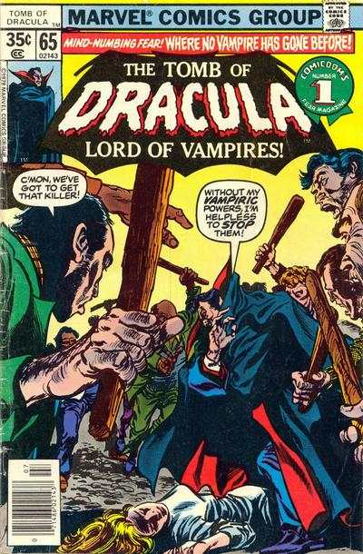 Tomb of Dracula #65 Comic Books - Covers, Scans, Photos  in Tomb of Dracula Comic Books - Covers, Scans, Gallery