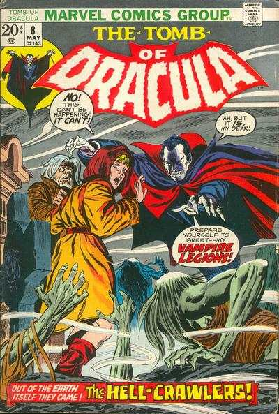 Tomb of Dracula #8 comic books - cover scans photos Tomb of Dracula #8 comic books - covers, picture gallery