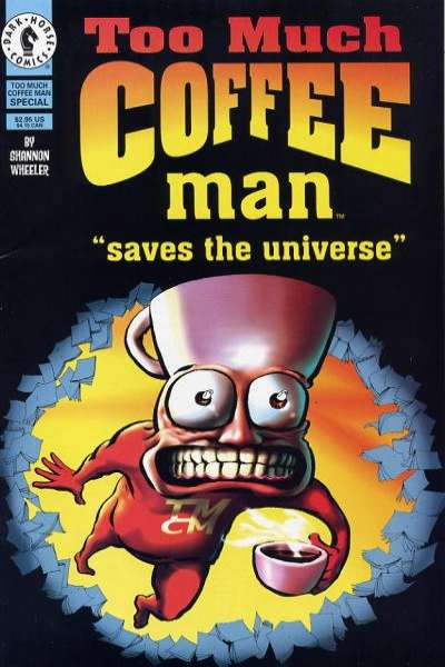 Too Much Coffee Man #1 comic books for sale