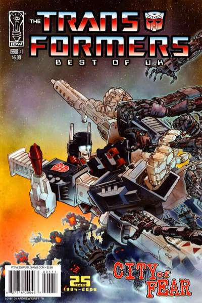 Transformers: Best of UK: City of Fear comic books