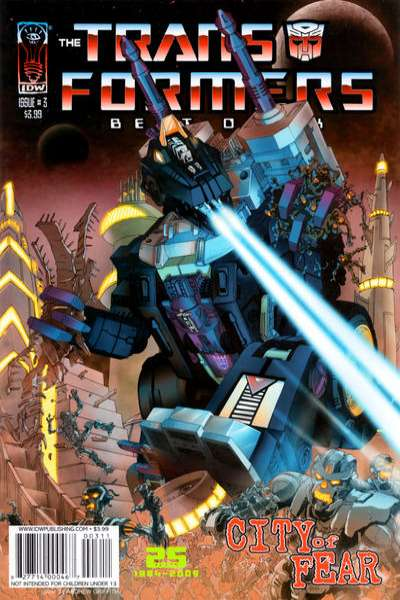 Transformers: Best of UK: City of Fear #3 comic books for sale