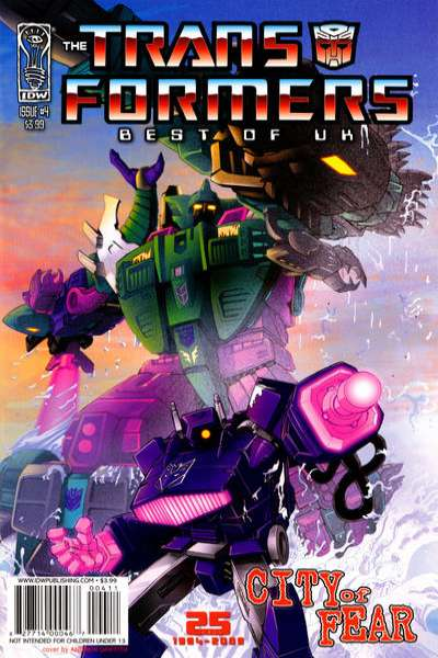 Transformers: Best of UK: City of Fear #4 comic books - cover scans photos Transformers: Best of UK: City of Fear #4 comic books - covers, picture gallery
