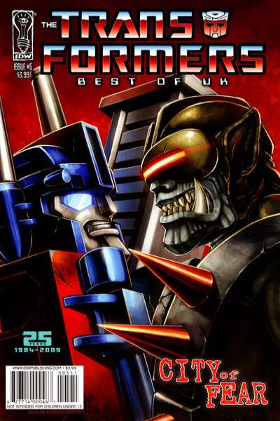 Transformers: Best of UK: City of Fear #5 comic books for sale