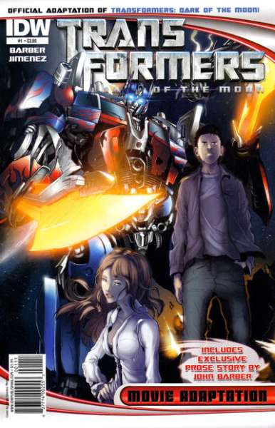 Transformers Dark of the Moon Movie Adaptation comic books