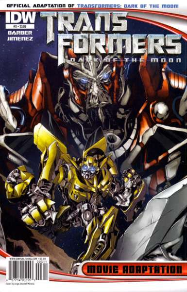 Transformers Dark of the Moon Movie Adaptation #3 comic books for sale